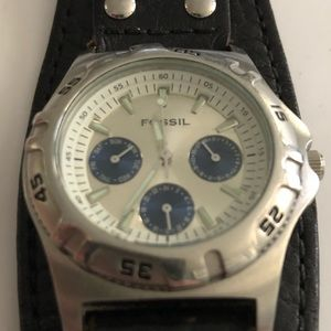 Men's cuff Fossil watch